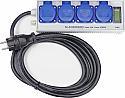 Energie- und Stundenzähler als 4fach-Steckdosenleiste SL-EH100MID (geeicht)