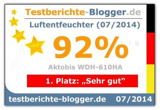 Testsieger 1. Platz Testberichte-Blogger.de