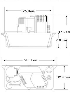 Abmessungen Kondenspumpe CP12